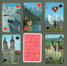 Collectable playing cards Swiss Souvenir  circa 1990's Swiss scene